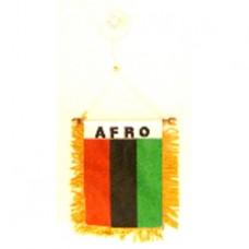 Afro American flag mini banner