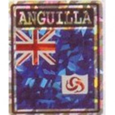 Anguilla flag 4X3 inch decal