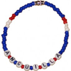 Anguilla flag Bead / Beaded Bracelet