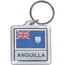 Anguilla flag Square lucite key ring
