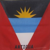 Antigua And Barbuda flag Bandana or Bandanna
