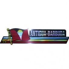 Antigua and Barbuda flag 12X3 inch bumper sticker