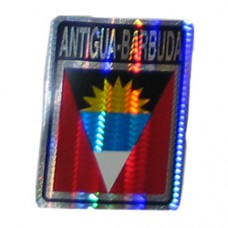 Antigua and Barbuda flag 4X3 inch decal