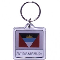 Antigua and Barbuda flag square key ring