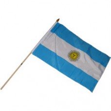 Argentina 12X18 polyester flag w/ 24 stick
