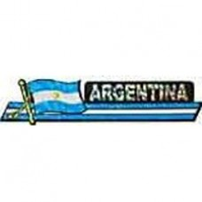 Argentina flag 11.5 inch X 2.5 inch bumper sticker