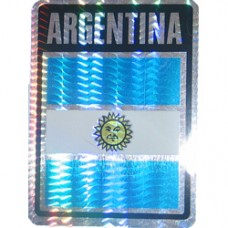 Argentina flag 4X3 inch decal