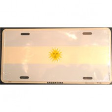 Argentina flag license plate