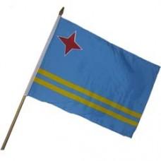 Aruba 12X18 polyester flag w/ 24 stick