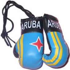 Aruba Flag Mini Boxing Gloves