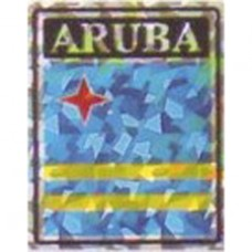 Aruba flag 4X3 inch decal