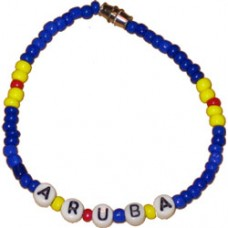 Aruba flag Bead / Beaded Bracelet