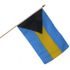 Bahamas 12  X 18 inches polyester flag w/ 24 inch stick