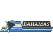 Bahamas flag 11.5 inch X 2.5 inch bumper sticker