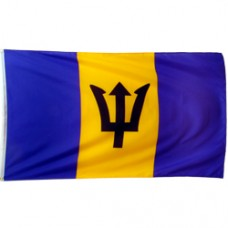 Barbados 2 feet X 3 feet polyester flag