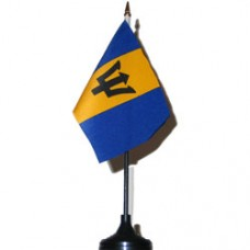Barbados 4 X 6 inch desk flag