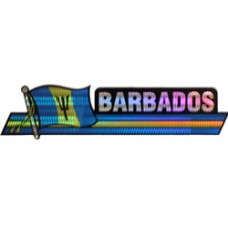 Barbados flag 11.5 inch X 2.5 inch bumper sticker