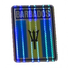 Barbados flag 4 inch X 3 inch decal