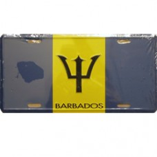 Barbados flag License Plate