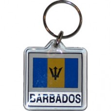 Barbados flag Square key ring