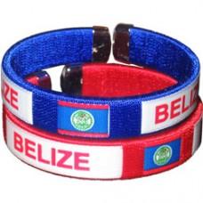 Belize Flag Metal Tip Bracelet