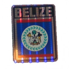 Belize flag 4 inch X 3 inch decal