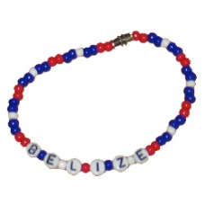 Belize flag Beaded Bracelet