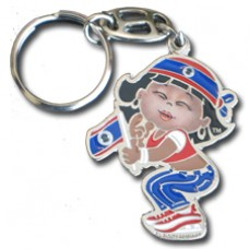 Belize flag Large Girl key ring