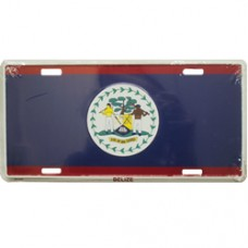 Belize flag License Plate