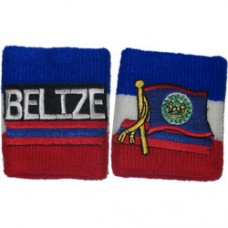 Belize flag Wristband Mixed Pair