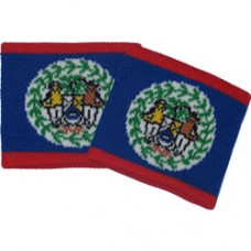 Belize flag Wristband (Pair)