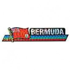 Bermuda flag 11.5 inch X 2.5 inch bumper sticker