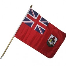 Bermuda stick flag 12  X 18 inches w/ 24 inch stick