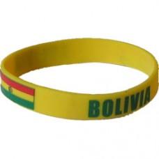 Bolivia Flag Silicon Bracelet