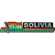 Bolivia flag 11.5 inch X 2.5 inch bumper sticker