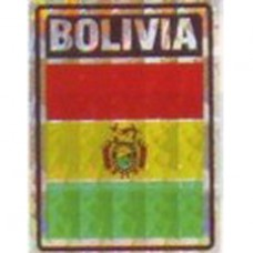 Bolivia flag 4X3 inch decal