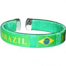 Brazil Flag Metal Tip Bracelet