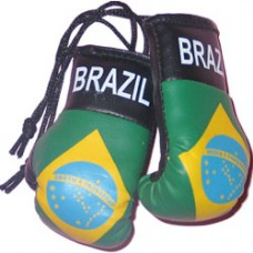 Brazil Flag Mini Boxing Gloves