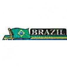 Brazil flag 11.5 inch X 2.5 inch bumper sticker