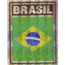 Brazil flag 4X3 inch decal