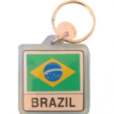 Brazil flag Square key ring