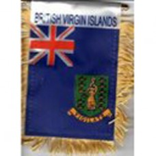 British V.I. flag mini banner