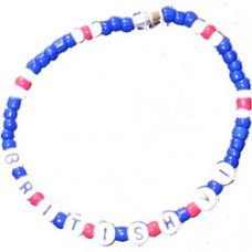 British Virgin Islands Flag Beaded Bracelet