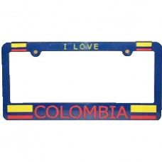 Buy Colombia Flag License Plate Frame