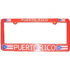 Buy This Red Puerto Rico Flag License Plate Frame