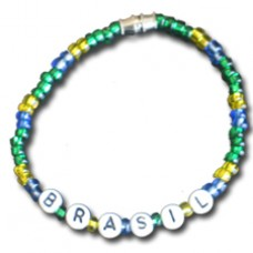 Buy a Brasil flag Beaded Bracelet