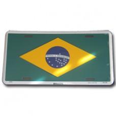 Buy a Brazil flag License Plate