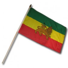 Buy a Ethiopia Lion Flag 12X18 inches w/ 24 stick""