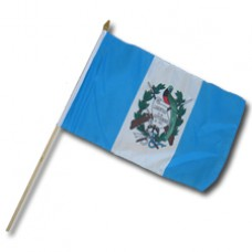 Buy a Guatemala flag 12X18 with a 24 inch stick""