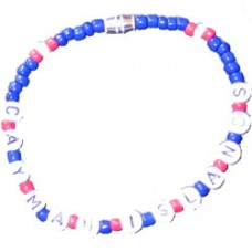 Cayman Islands flag Beaded Bracelet